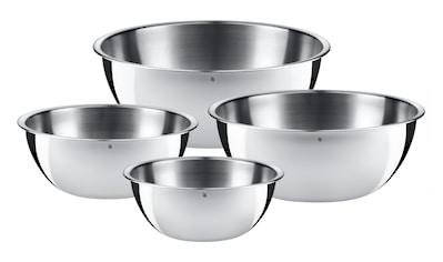 Rührschüssel - Set, WMF, »Gourmet 0.75 l/1 l/2 l/2.75 l, Silberfarben« kaufen