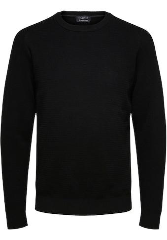 SELECTED HOMME Rundhalspullover »CORNELIUS STRUCTURE CREW NECK« kaufen
