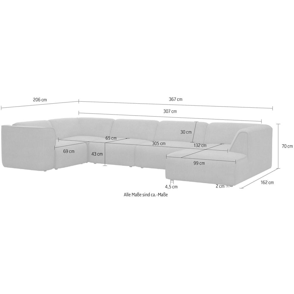"""COUCH♥ Wohnlandschaft »Fettes Polster«, Modulsofa Set, Module einzeln für individuelle Zusammenstellung s. """"Fettes Polster"""""""