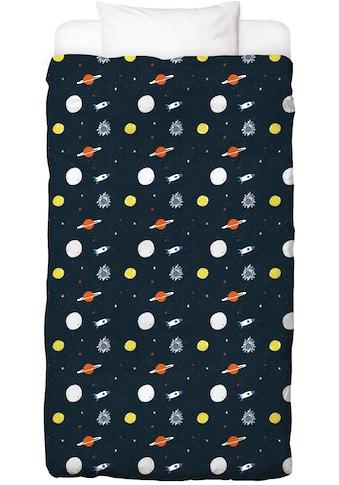 Juniqe Bettwäsche »Planets Pattern«, In vielen weiteren Designs erhältlich kaufen