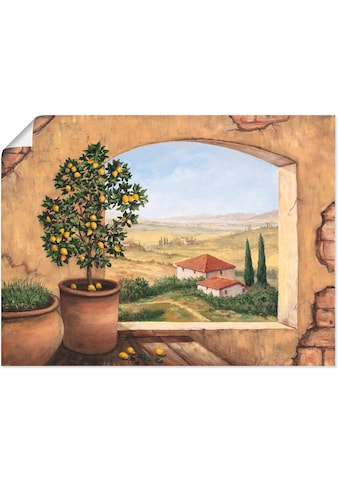 Artland Wandbild »Fenster in der Toskana«, Fensterblick, (1 St.), in vielen Grössen &... kaufen
