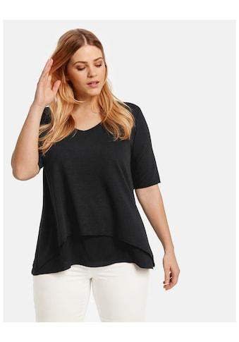 Samoon T - Shirt Kurzarm Rundhals »Ausgestelltes Double - Layer - Shirt« kaufen