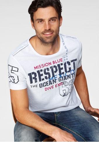 CAMP DAVID T-Shirt, mit grossem Frontprint kaufen