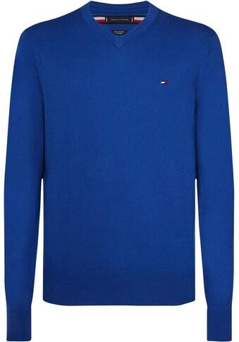 TOMMY HILFIGER V - Ausschnitt - Pullover »PIMA COTTON CASHMERE V NECK« kaufen