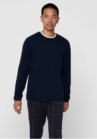 ONLY & SONS Rundhalspullover »PANTER 12 STRUC CREW NECK KNIT« kaufen