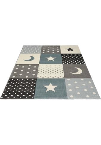 merinos Kinderteppich »Pastel Kids 20340«, rechteckig, 13 mm Höhe, Mond und Sterne,... kaufen
