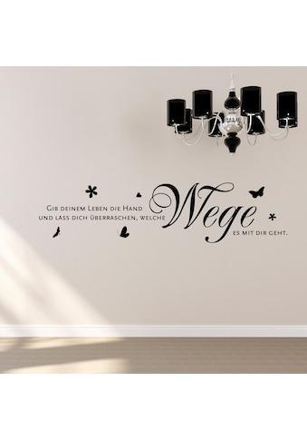 QUEENCE Wandtattoo »Gib deinem Leben die Hand...«, 120 x 30 cm kaufen