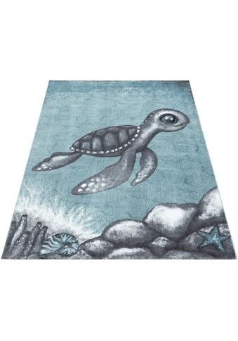 Ayyildiz Kinderteppich »Bambi 860«, rechteckig, 11 mm Höhe, Schildkröte Motiv, Kurzflor kaufen
