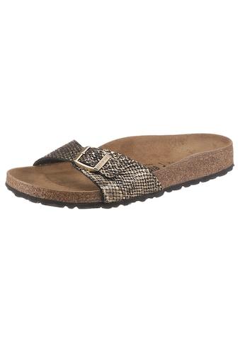 Birkenstock Pantolette »Madrid Shiny Python«, mit vorgeformtem Fussbett, Schuhweite:... kaufen