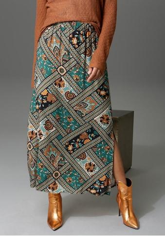 Aniston CASUAL Maxirock, mit Patchdruck - jedes Teil ein Unikat kaufen