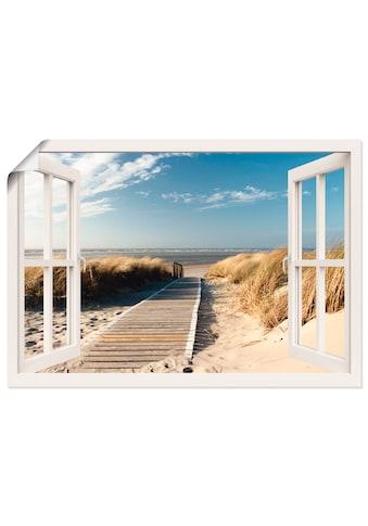 Artland Wandbild »Fensterblick Nordseestrand auf Langeoog«, Fensterblick, (1 St.), in... kaufen