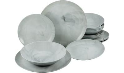 "CreaTable Tafelservice ""Marmor"" (18 - tlg.), Glas kaufen"