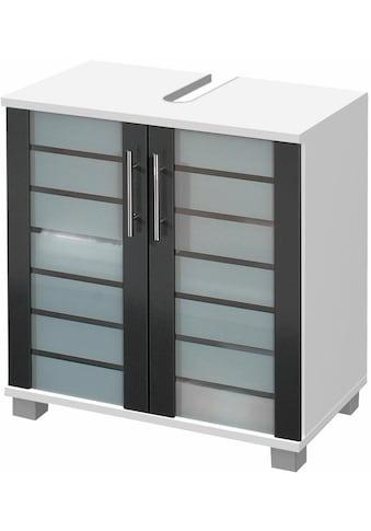 Schildmeyer Waschbeckenunterschrank »Nikosia«, Höhe 64 cm, mit Glastüren, hochwertige... kaufen
