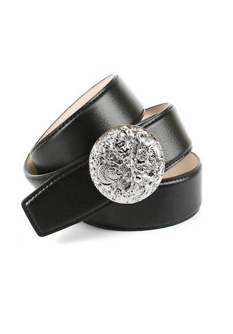 """Anthoni Crown Ledergürtel, mit silberfarbener Schliesse """"Drache"""" kaufen"""