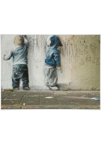 Wall-Art Poster »Graffiti Bilder Boys drawing«, Menschen, (1 St.), Poster, Wandbild,... kaufen