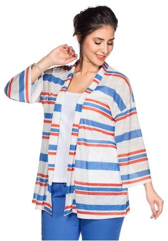 Sheego Shirtjacke, mit Kimonoärmeln kaufen
