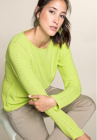 bianca Strickpullover »REMIS«, aus Baumwolle mit trendigem Strickmuster kaufen