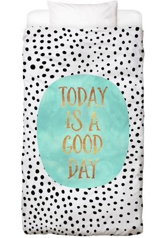 Juniqe Bettwäsche »Today Is a Good Day«, In vielen weiteren Designs erhältlich kaufen