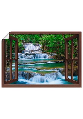 Artland Wandbild »Fensterblick Wasserfall in Kanchanaburi«, Fensterblick, (1 St.), in... kaufen
