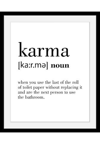queence Bild »Karma«, in 3 Grössen, gerahmt kaufen