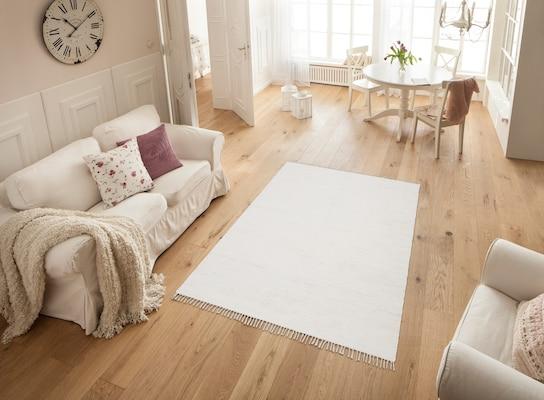 Handgewebter Baumwollteppich
