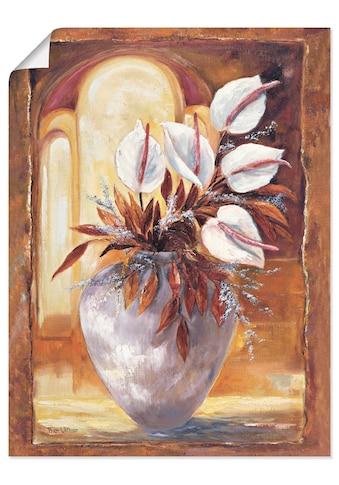 Artland Wandbild »Weisse Blumen in Vase I«, Blumen, (1 St.), in vielen Grössen &... kaufen