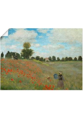 Artland Wandbild »Mohnfeld bei Argenteuil. 1873«, Blumen, (1 St.), in vielen Grössen &... kaufen