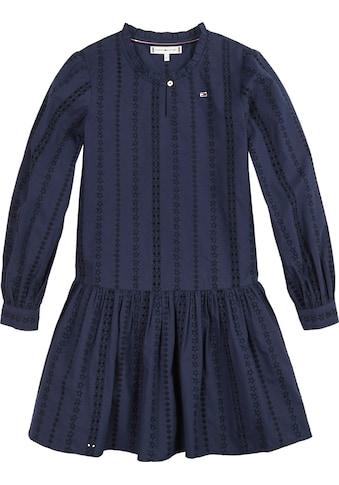 TOMMY HILFIGER A-Linien-Kleid, besticktes Material kaufen