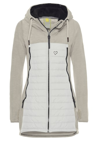 Alife & Kickin Outdoorjacke »CharliAK«, warme Longjacke im Fleece-Downlook-Style, Materialmix kaufen