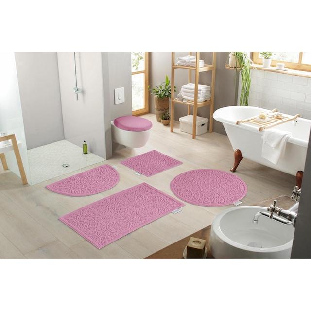 Badematte »Garden Pastels«, Guido Maria Kretschmer Home&Living, Höhe 3 mm, fussbodenheizungsgeeignet