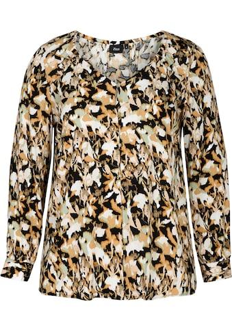 Zizzi Klassische Bluse, mit goldfarbenen Knöpfen kaufen