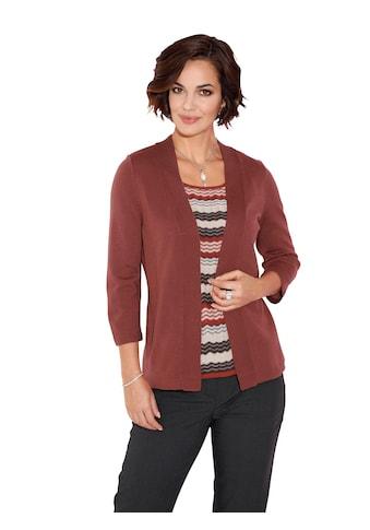 Classic Pullover mit gemustertem Rundhals - Einsatz kaufen
