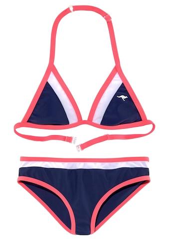 KangaROOS Triangel-Bikini, im coolen Colorblocking-Design kaufen