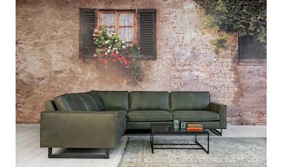Places of Style Ecksofa »Pinto«, mit langem Schenkel, Keder und Metallfüssen kaufen