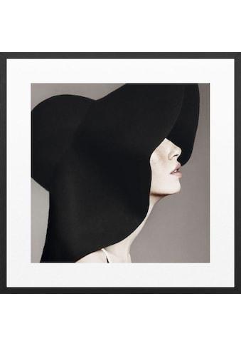 Wandbild »Frau Mit Hut  -  Gerahmtes Bild« kaufen