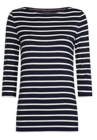 TOMMY HILFIGER T - Shirt »HERITAGE BOAT NECK TEE« kaufen