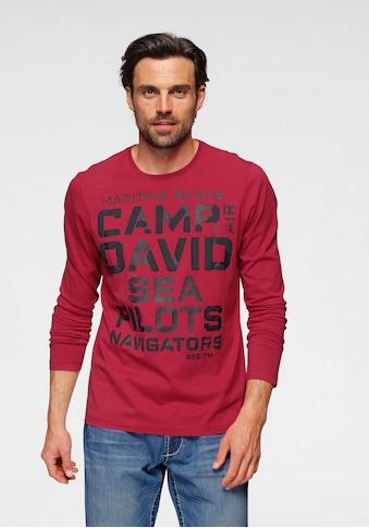 CAMP DAVID Langarmshirt, mit Logofrontprint kaufen
