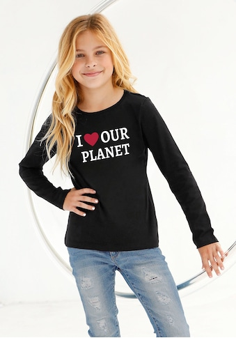 KIDSWORLD Langarmshirt »I LOVE OUR PLANET« kaufen