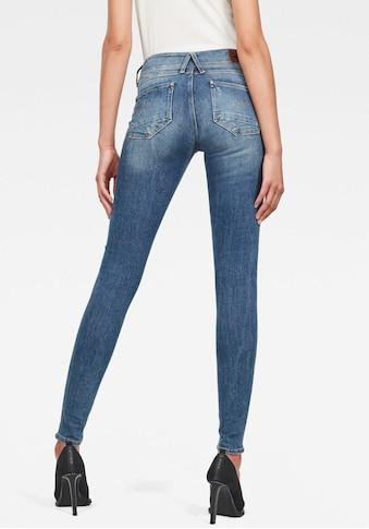 G-Star RAW Skinny-fit-Jeans »Lynn Mid Super Skinny«, in coolen Used-Waschungen kaufen