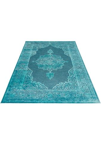 MINT RUGS Teppich »Willow«, rechteckig, 4 mm Höhe, Viskose Glanz, Hoch-Tief Struktur,... kaufen