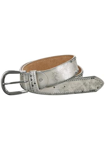 heine Nietengürtel, mit Metallic-Finish kaufen