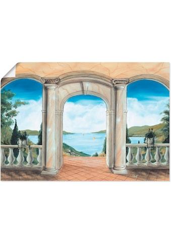 Artland Wandbild »griechische Terrasse«, Europa, (1 St.), in vielen Grössen &... kaufen