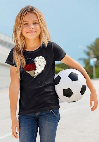 KIDSWORLD T-Shirt »Fussballshirt«, mit Wendepailletten kaufen
