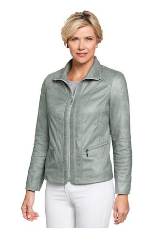 Classic Lederimitat - Jacke in modischer Raff - Optik kaufen
