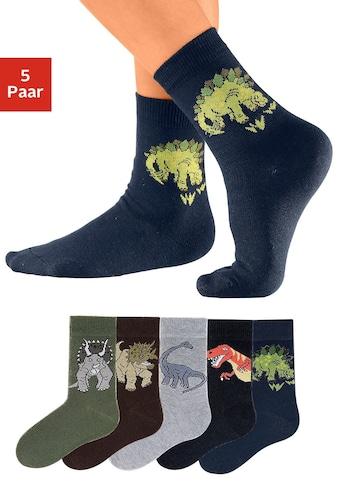 Go in Socken, (5 Paar), mit Dinosauriermotiven kaufen
