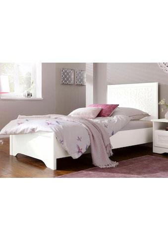 Home affaire Bett »Lucy«, in 4, Breiten verfügbar mit romantischen Ornamenten kaufen