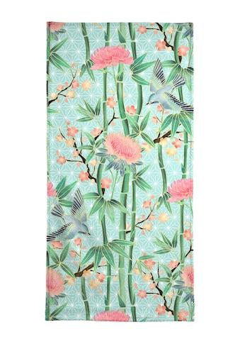 "Strandtuch ""Bamboo Birds and Blossom Mint"", Juniqe kaufen"