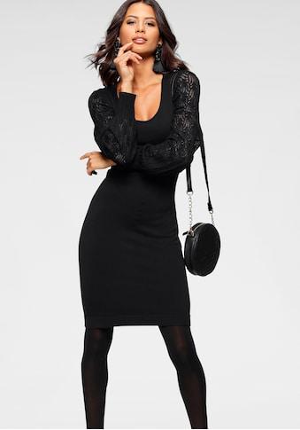 Laura Scott Strickkleid, mit Ärmel in Ajourstrick kaufen
