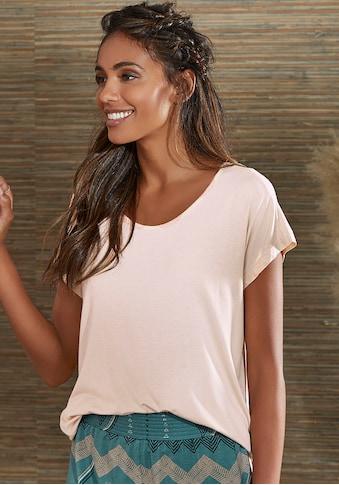 LASCANA T-Shirt, mit angeschnittenem Arm kaufen