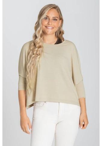SUPER.NATURAL T-Shirt »W HALF TOP«, verkürzte Passform, funktioneller Merino-Materialmix kaufen